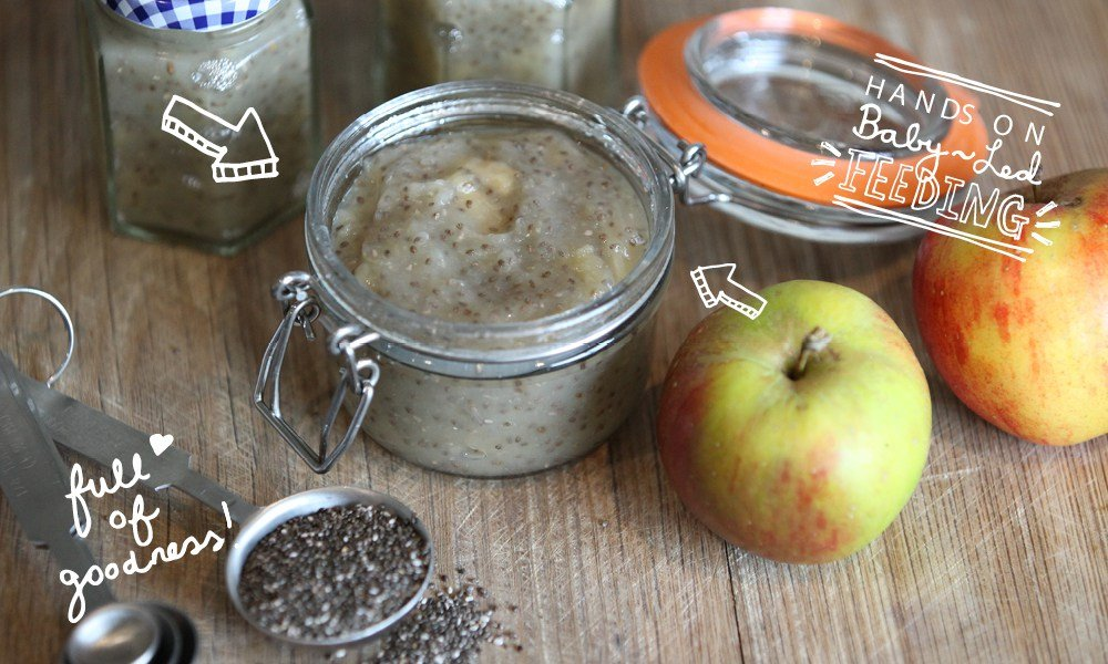 Apple & Chia Healthy Baby Jam Baby Led Feeding.