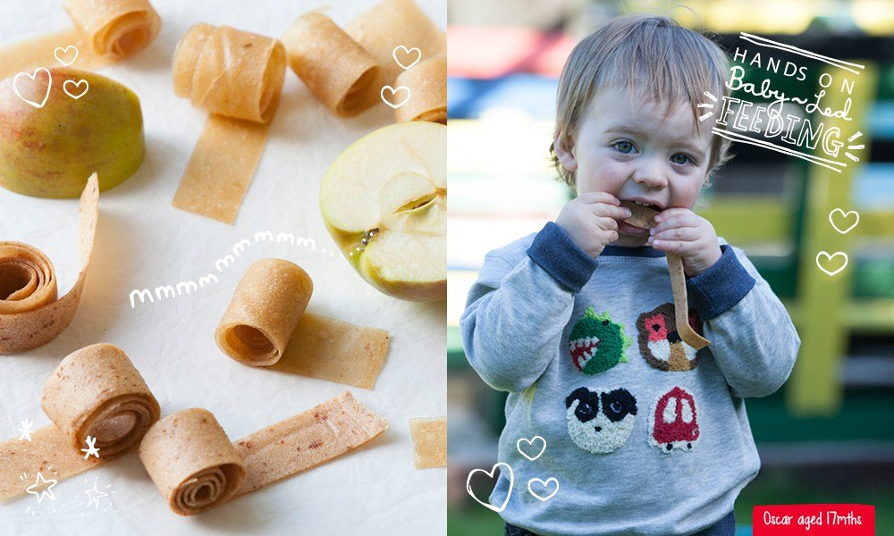 Super Easy Apple Rollups – Refined Sugar Free Baby Led Feeding.
