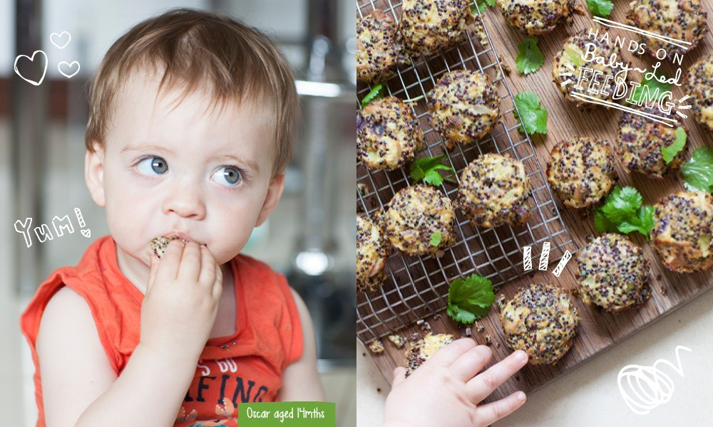 Black Quinoa with Tuna and Coriander especially for Baby Led Feeding. These are delicious tuna and coriander quinoa bites  packed with nutrients and a perfect recipe for blw. Quinoa Lunch ideas for baby led weaning. Homemade Baby Food Recipes for baby led weaning by Aileen Cox Blundell. Perfect for little hands.