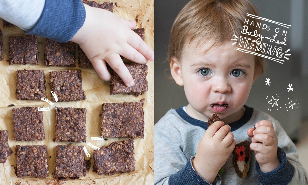 Chocolate Oat Bars Baby Led Feeding.