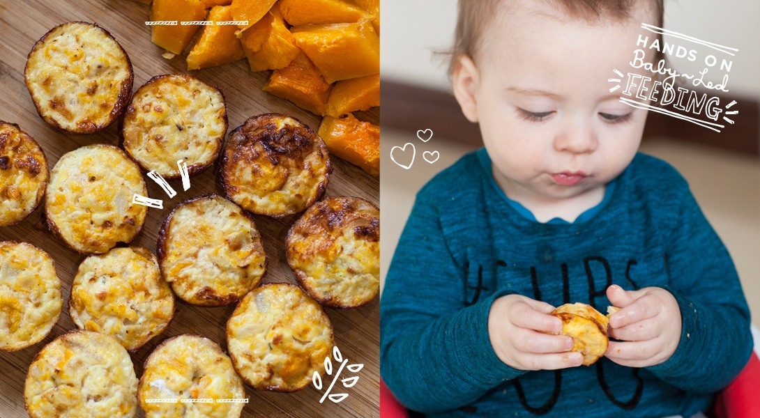 Butternut Squash and Goat Cheese Frittata Baby Led Feeding Baby Recipe.