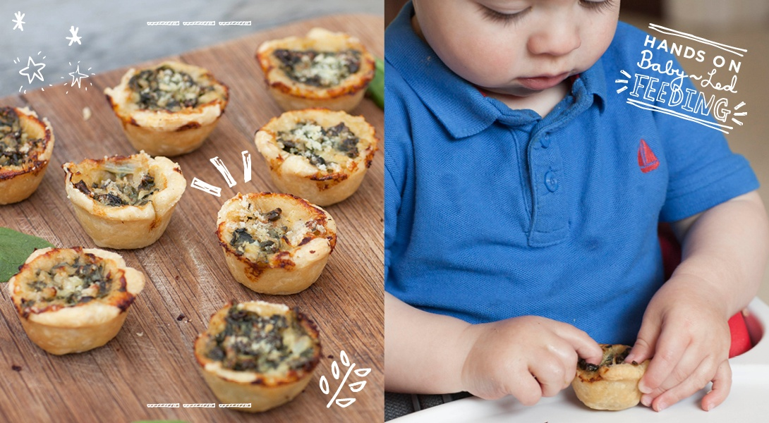 Spinach and Cream Baby Pies Baby Led Feeding