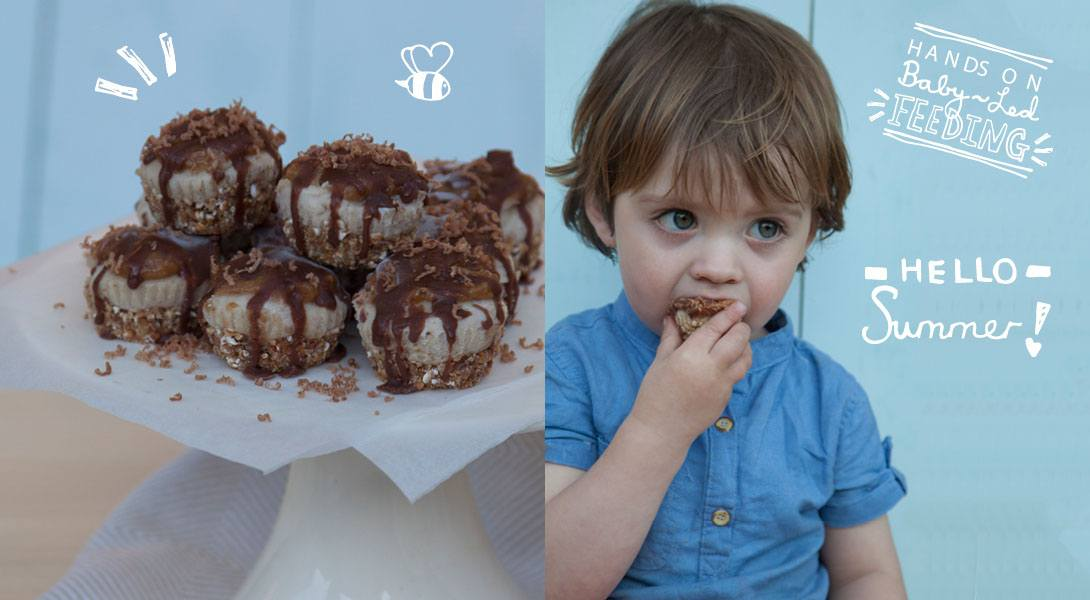 Baby Led Feeding Healthy Snickers Cheesecake.