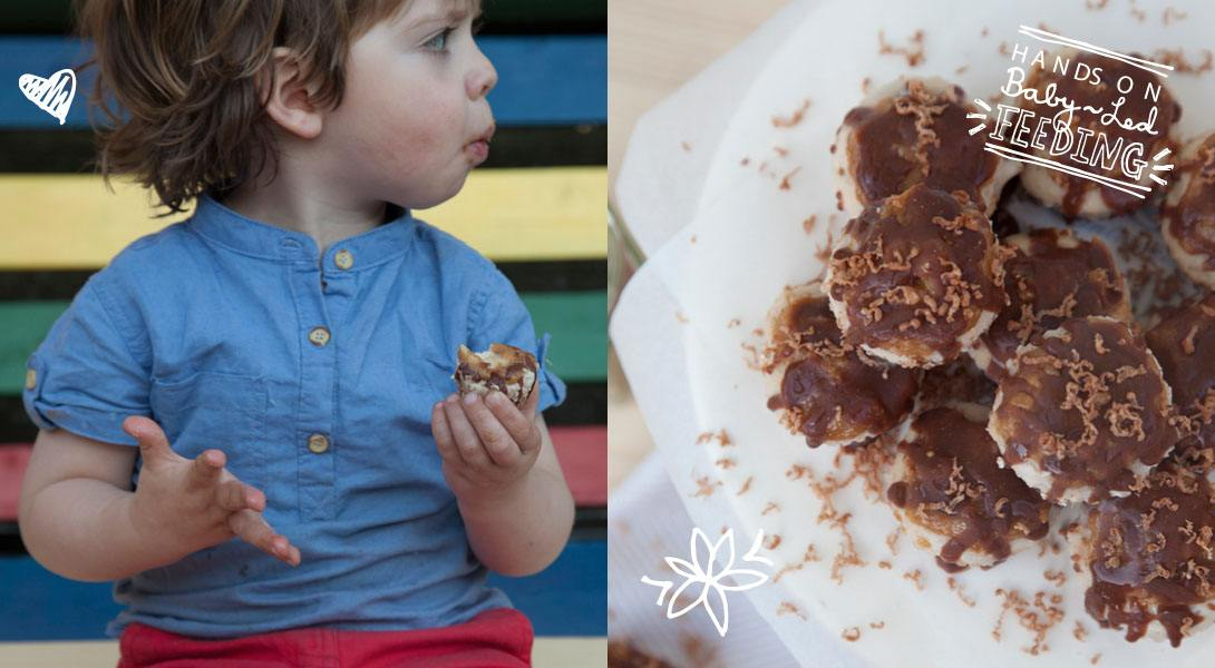 Baby Led Feeding Healthy Snickers Cheesecake Summer Time.