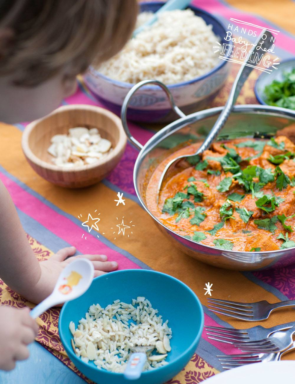 Baby Led Feeding Healthy Chicken Tikka Masala Introducing your baby to spices. Homemade Baby led weaning Recipes.