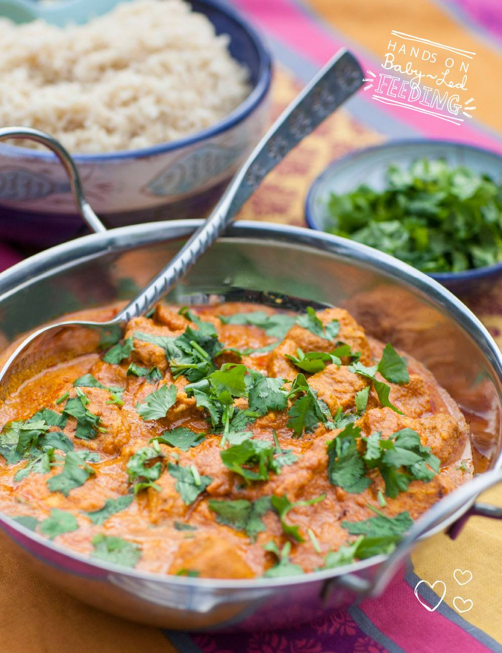 Baby Led Feeding Healthy Chicken Tikka Masala Currys for Babies. Homemade Baby led weaning Recipes Aileen Cox Blundell.