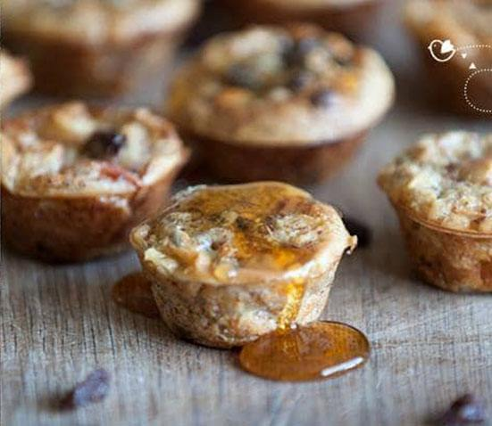 Baby Led Feeding Super Healthy Apple and Cinnamon Breakfast Muffins The Baby-Led Feeding Cookbook by Aileen Cox Blundell and Gill Publishing. They are filled with nutritiously yummy ingredients and make a yummy family breakfast.