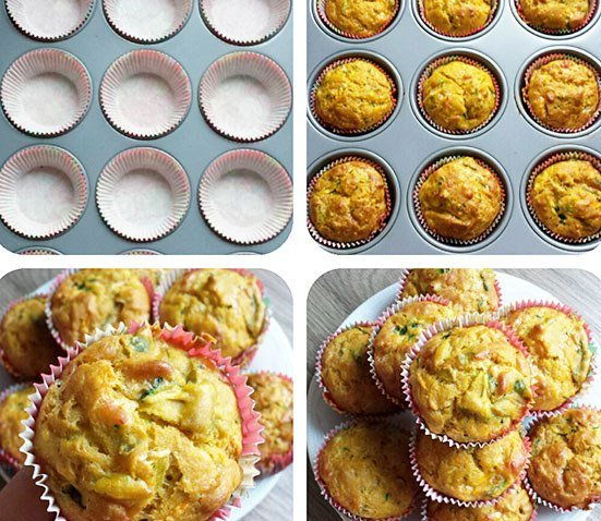 KIDDY VEGETABLE QUICHE CUPCAKES 15 Delicious breakfasts for baby led weaning babies.