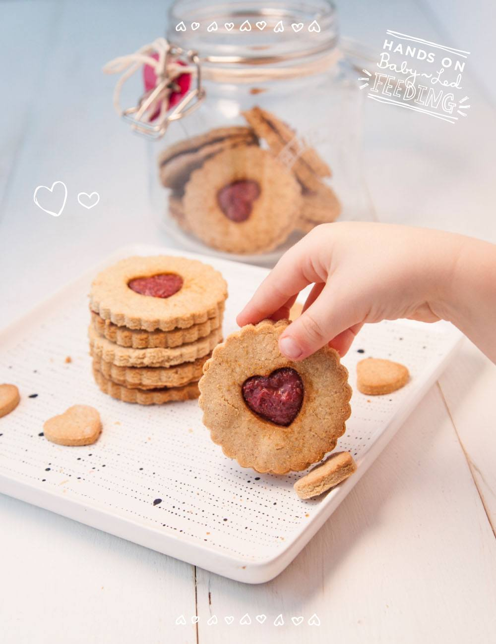 These hearty jam cookie are made with wholesome buckwheat and coconut flours. They are refined sugar free- sweetened only with with maple syrup and fresh raspberries. Add a few tablespoons of chia seeds for added protein, omega 3s , and antioxidants. #valentinesday #valentines #cookies #raspberries #babyledweaning @https://www.pinterest.com/babyledfeeding