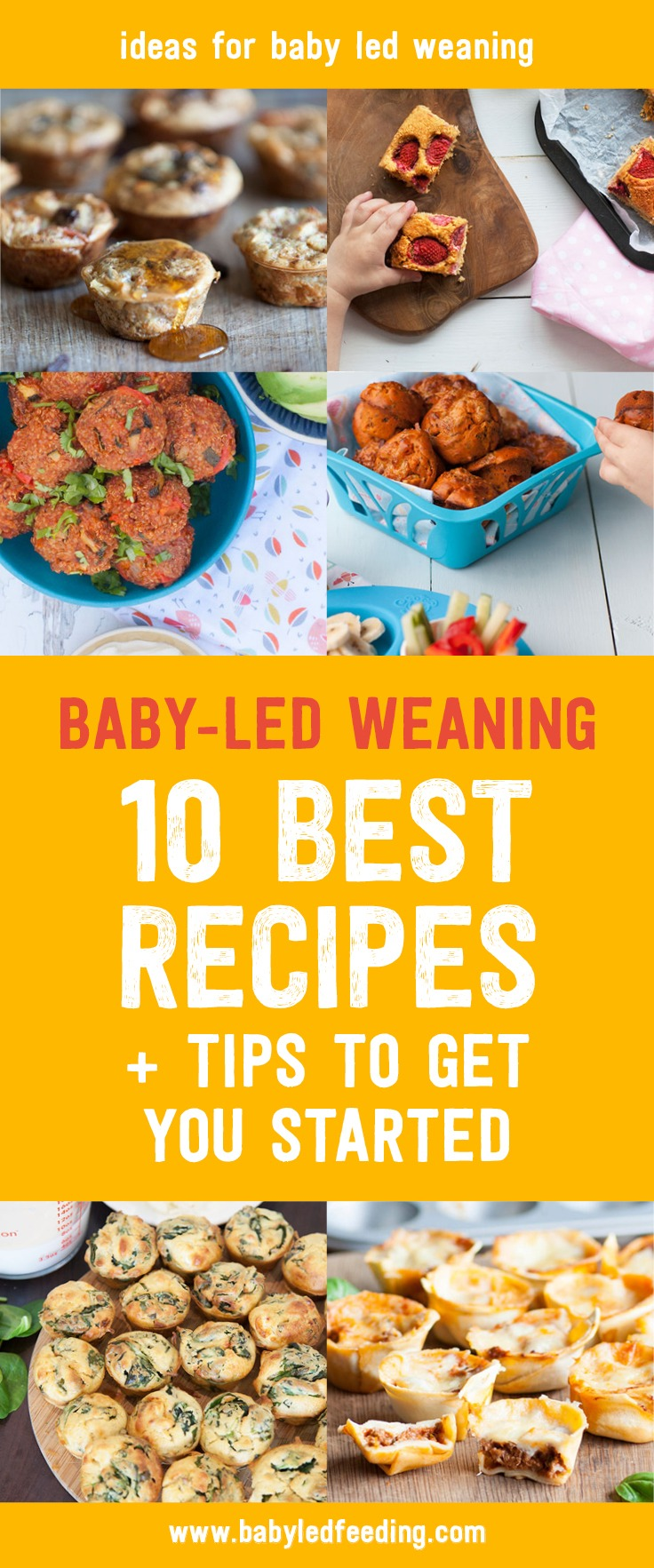 How do I start baby led weaning? Here are 10 tips and healthy baby led weaning recipe to start your baby on finger foods. Easy recipe that are refined sugar free, low in salt, and loaded with whole grains, vegetables, and fruit. Make ahead and freeze several of these nutritious recipe for a quick baby friendly meal! #babyledweaning #fingerfood #fingerfoodrecipe #firstfoods #babyfood #startingsolids #babyledfeeding
