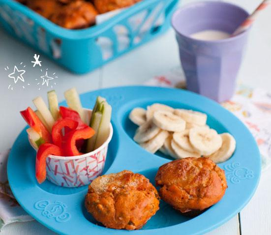 Healthy Pizza Muffins Baby Led Feeding. Homemade Baby Finger Food Recipes and Ideas for giving Your Baby Nutritious Finger Foods. These delicious finger food recipe are easy to make and are soft for little hands. Homemade recipe for babies and toddlers from Aileen Cox Blundell from The Baby Led Feeding Cookbook.