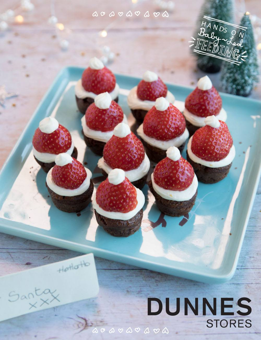 The Ultimate Christmas Treat for Santa Recipe Image. Homemade Santa Brownies that are easy to make and so delicious too. These delicious Christmas finger food recipe are easy to make and are soft for little hands.