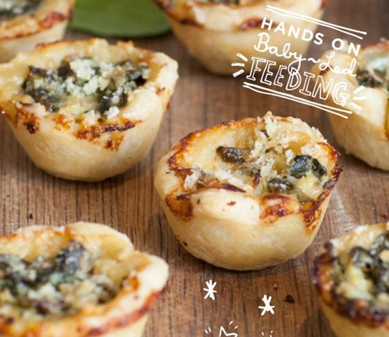 Baby Led Feeding- image spinach and cream baby pies recipe