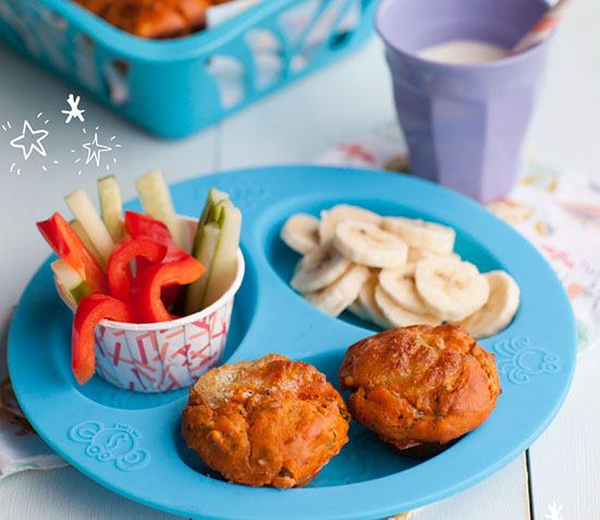 Baby Led Feeding- image of pizza muffins recipe