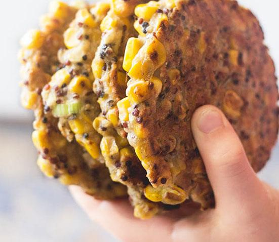 Baby Led Feeding- image of sweetcorn and quinoa fritters recipe