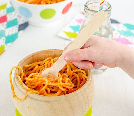 Baby Led Feeding- image of tomato and pumpkin pasta sauce recipe
