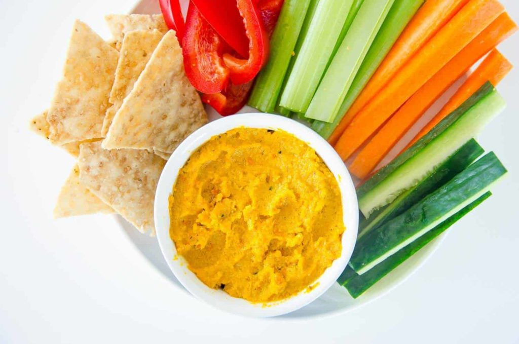 Roasted Carrot Cashew Dip