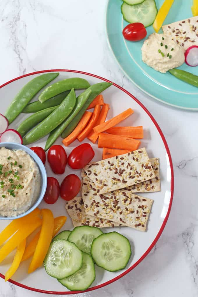 Cheese Chive Chickpea Dip- Healthy Dip