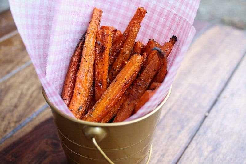 Baked Carrot Fries (Paleo and Vegan)