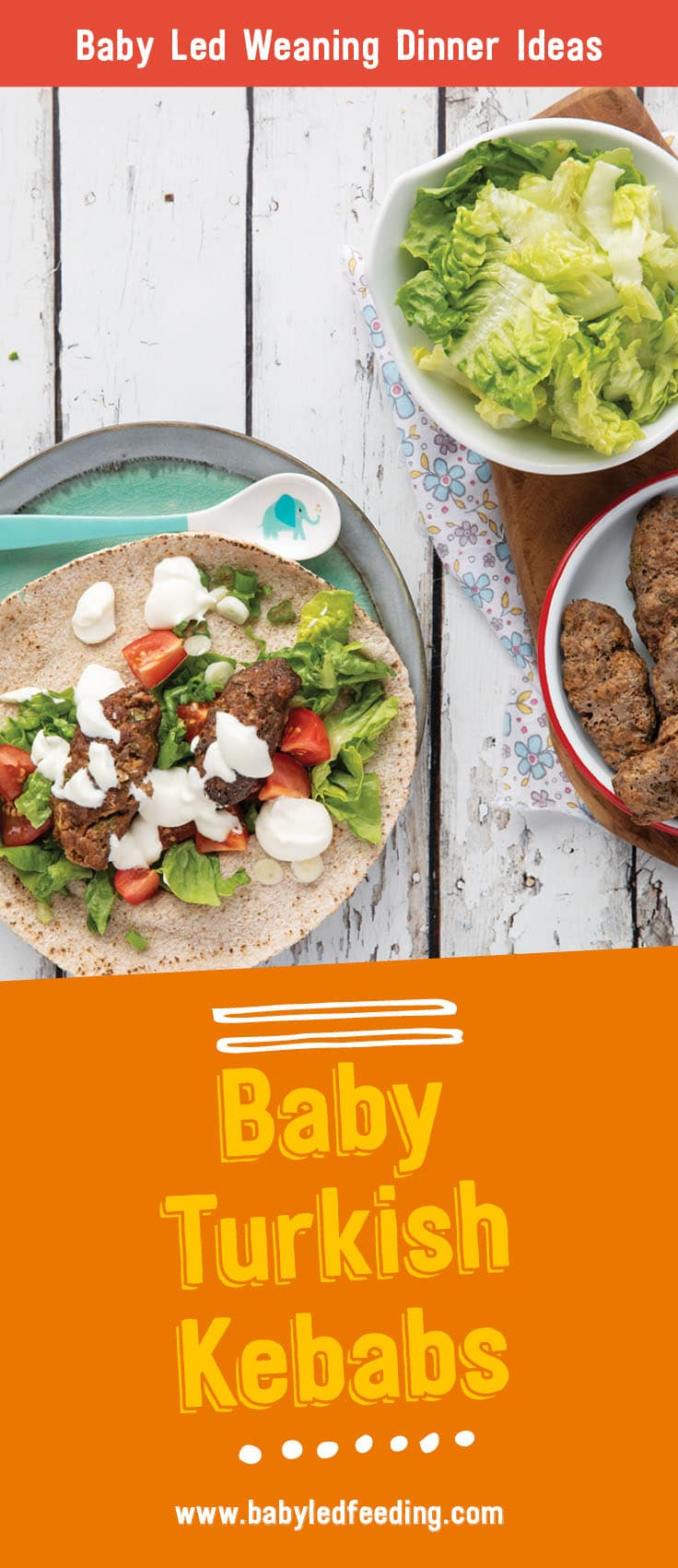 Baby Led weaning Turkish Kebabs Turkish Kebabs make the perfect healthy family friendly baby led weaning dinner. This easy recipe can be frozen and served as an easy finger food later.