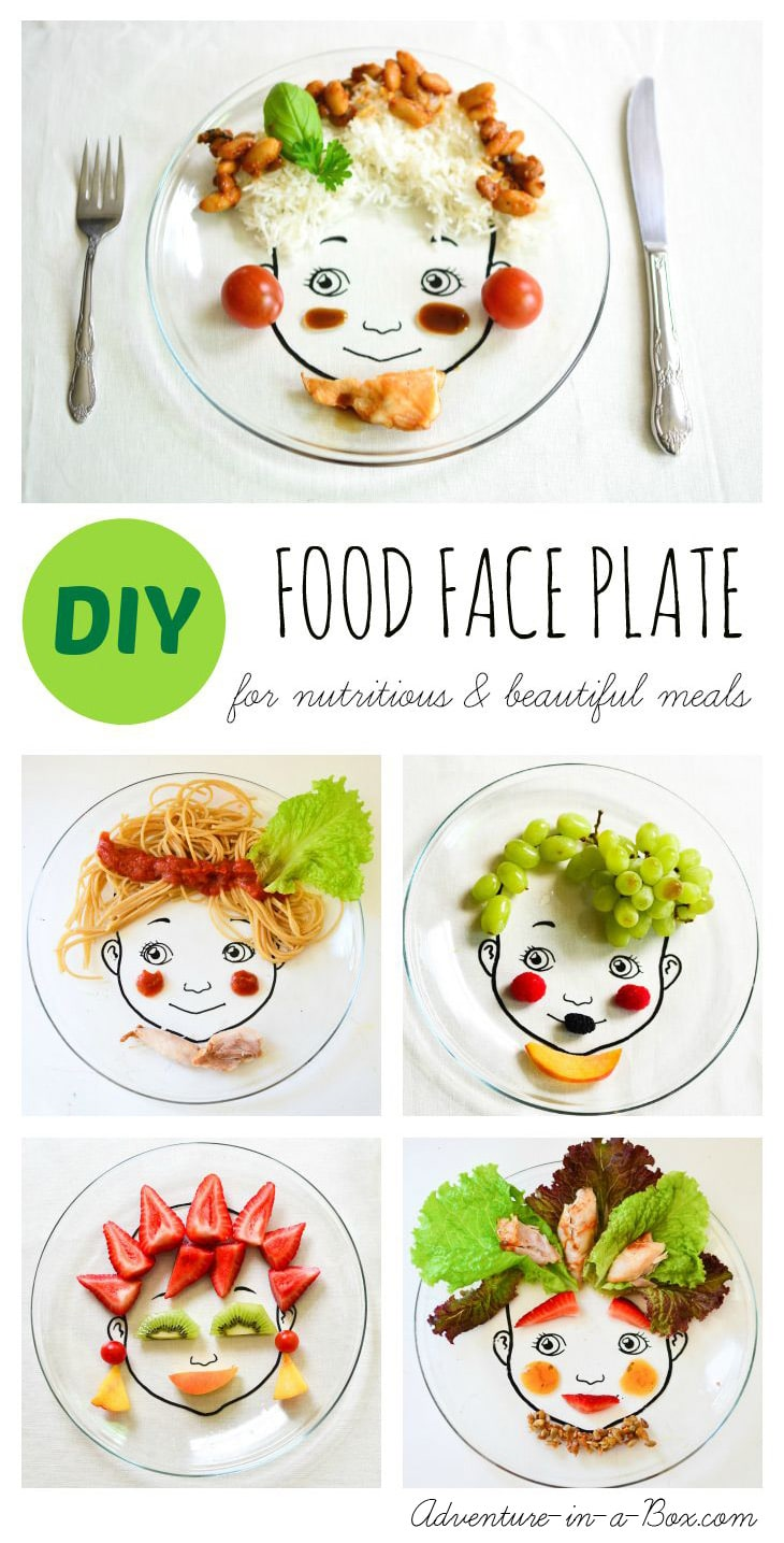 food-face-plate-simple-and-beautiful-snacks-for-kids-pinterest