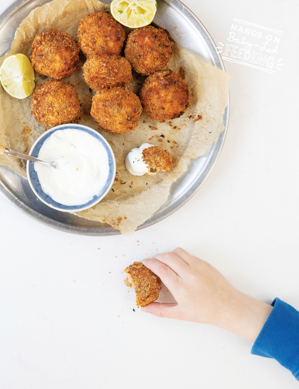 Delicious salmon nuggets that are just perfect for baby led weaning hands. These nuggets are the perfect baby led weaning finger food for babies.
