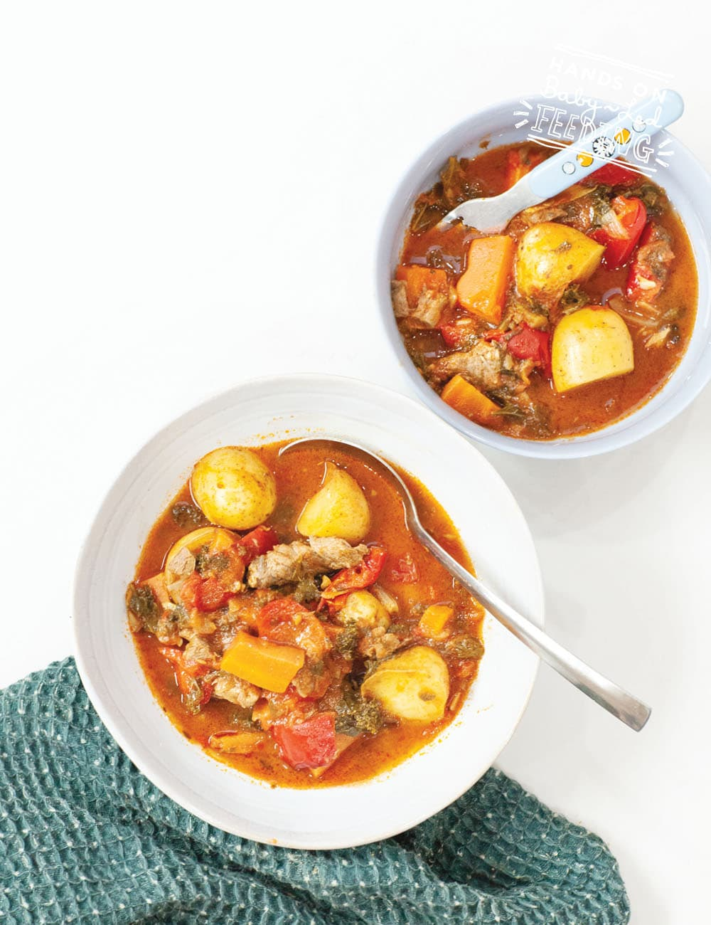 A healthy traditional Irish Stew that is safe for baby led weaning. Easy to prepare then slow simmered for a full rich flavour. This beef and veggie stew is full of healthy vegetables that even picky eaters will love! #saintpatricksrecipe #irishrecipe #beefstew #babyledweaning