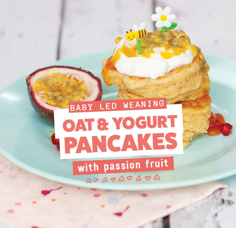 Passion Fruit and Oat Pancakes Mobile Banner Image