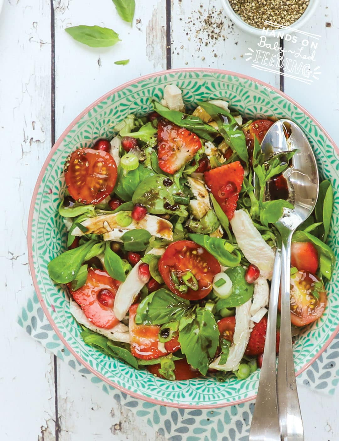 Chicken, Pomegrante and Strawberry Salad Recipe Images