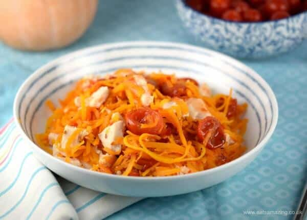 Easy-spiralized-butternut-squash-noodles-with-sweet-chilli-chicken-really-quick-and-easy-healthy-recipe