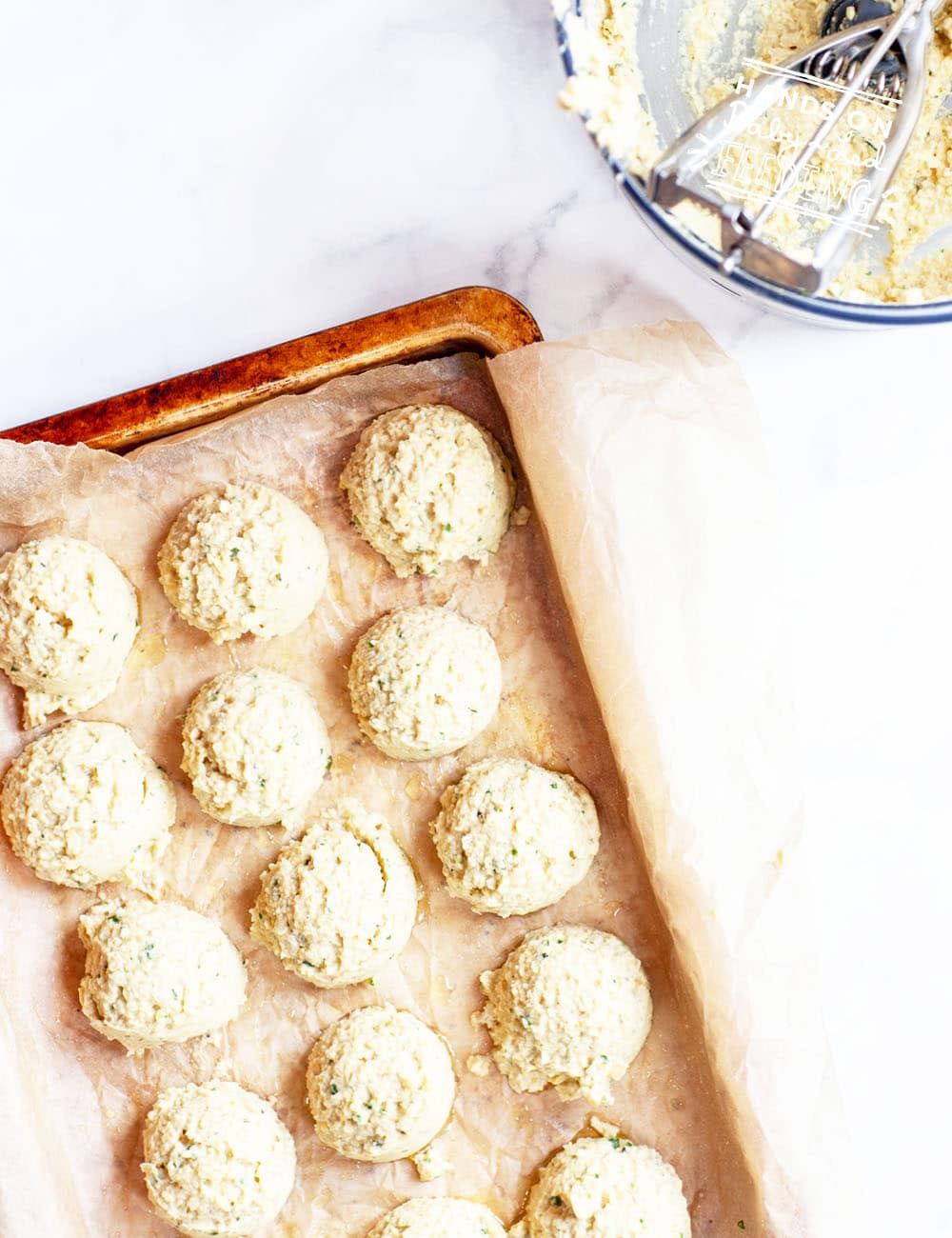 Baked chickpea meatless meatballs, super easy and quick kids food.
