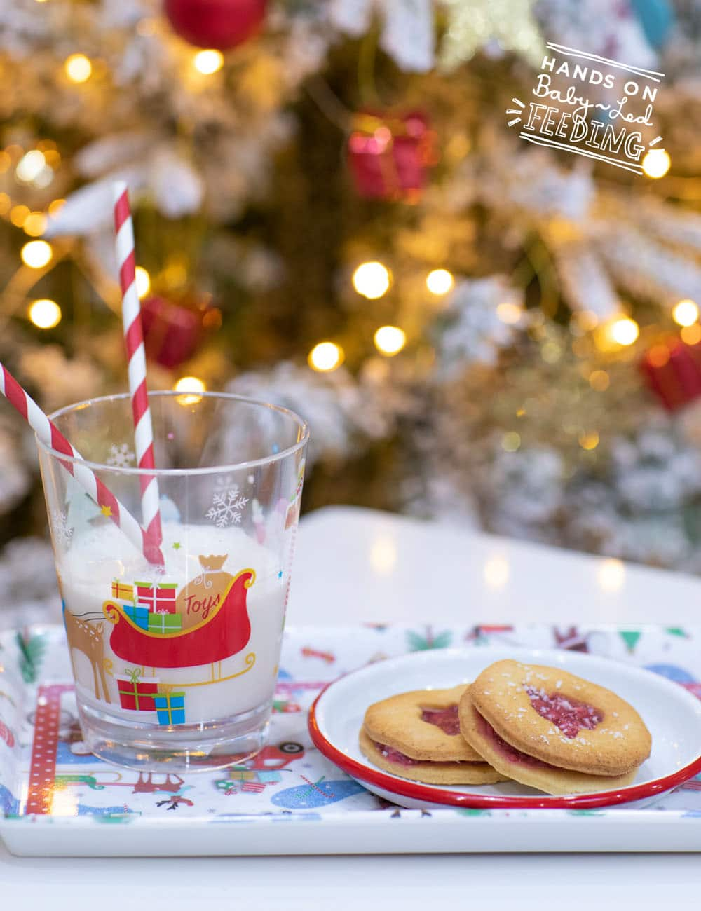 Baby Led Feeding Christmas Shortbread Raspberry Chia Cookies Recipe Images2