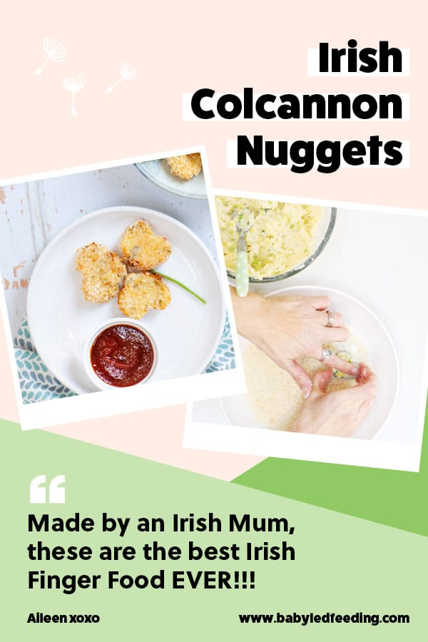 St. Patrick's Day Recipe- Irish Colcannon Nuggets Created by an Irish Mum! Traditional Irish Colcannon turned into healthy finger food for babies and toddlers. The most AMAZING Irish Finger Food St. Patrick's Day appetizer! #irish #StPatricksDay #KissMeImIrish