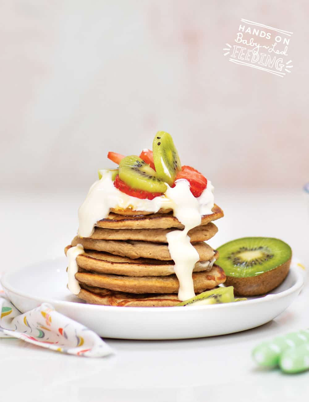 Baby Led Feeding Oat and Banana Pancakes with Yogurt Recipe Images2