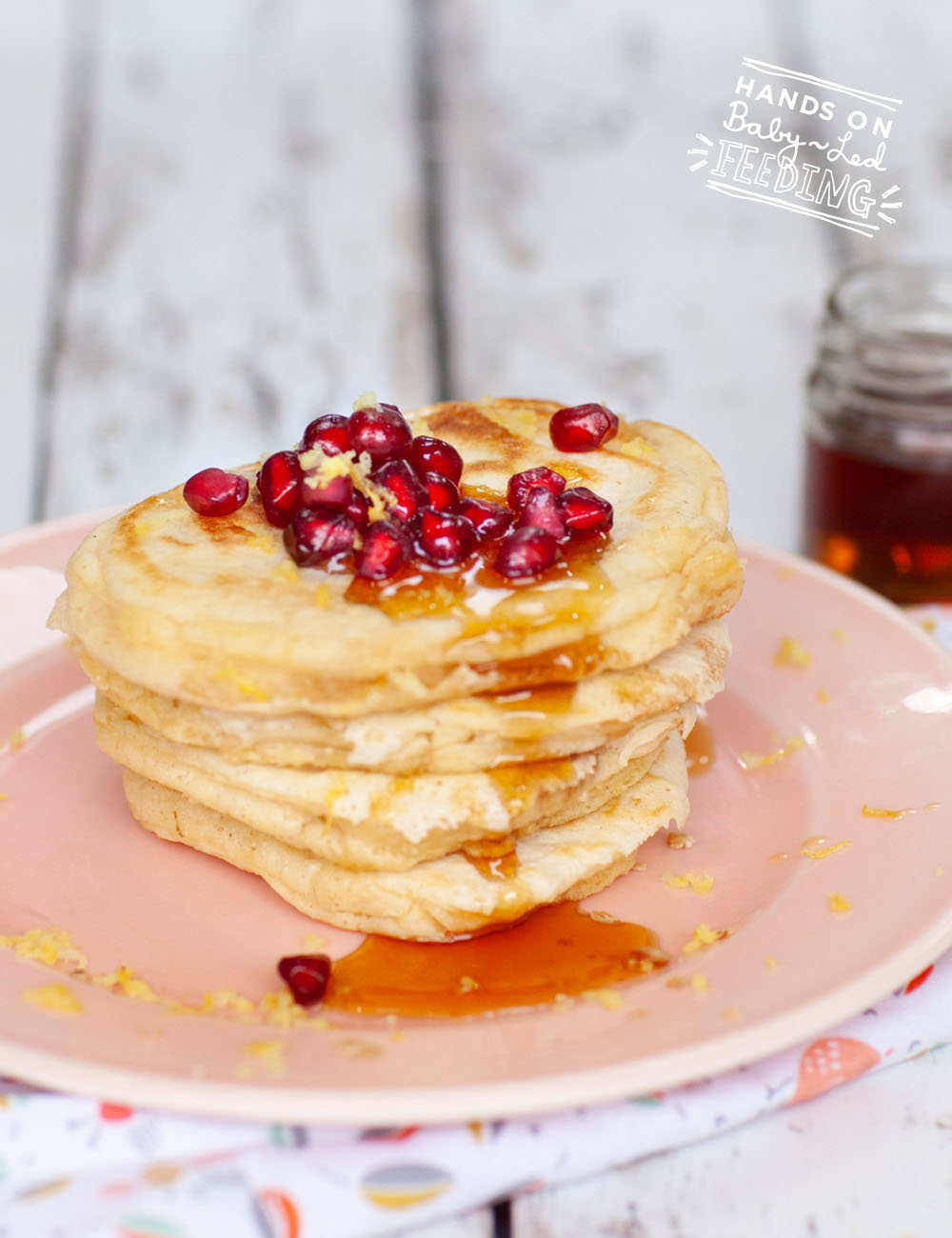 Baby Friendly Lemon and Maple Syrup Pancakes Recipe Images