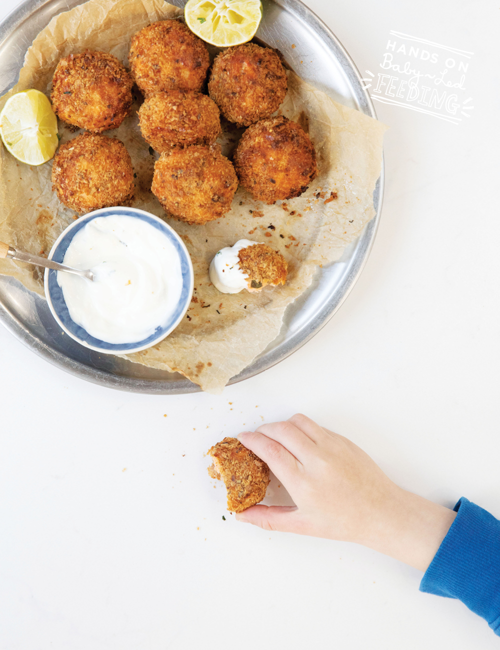 Baby Led Feeding Salmon Nuggets for baby led weaning Recipe Images