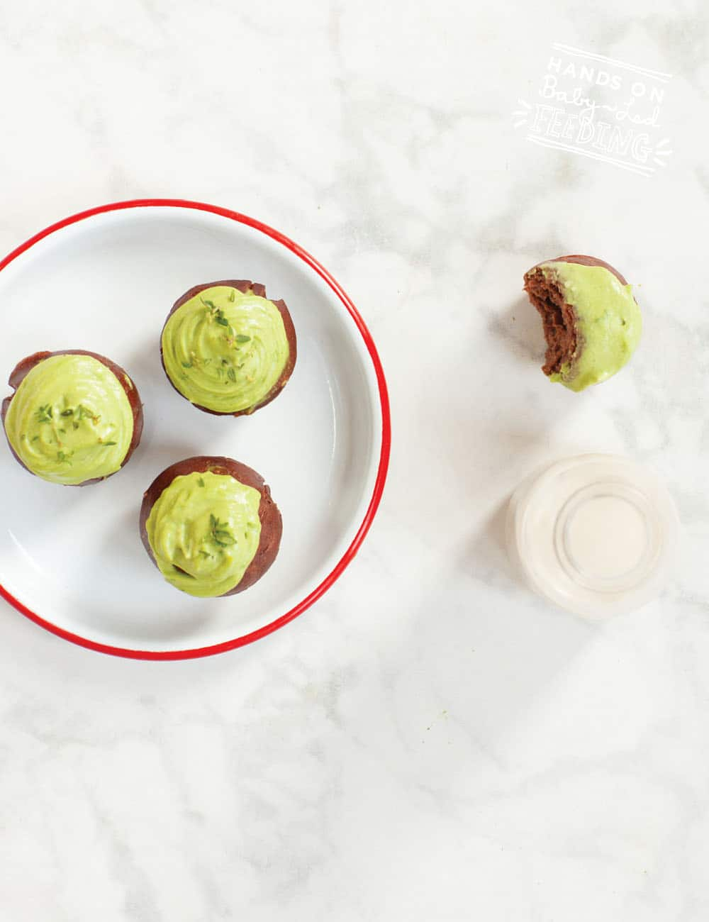 Chocolate Muffins with Green Frosting Recipe Images3