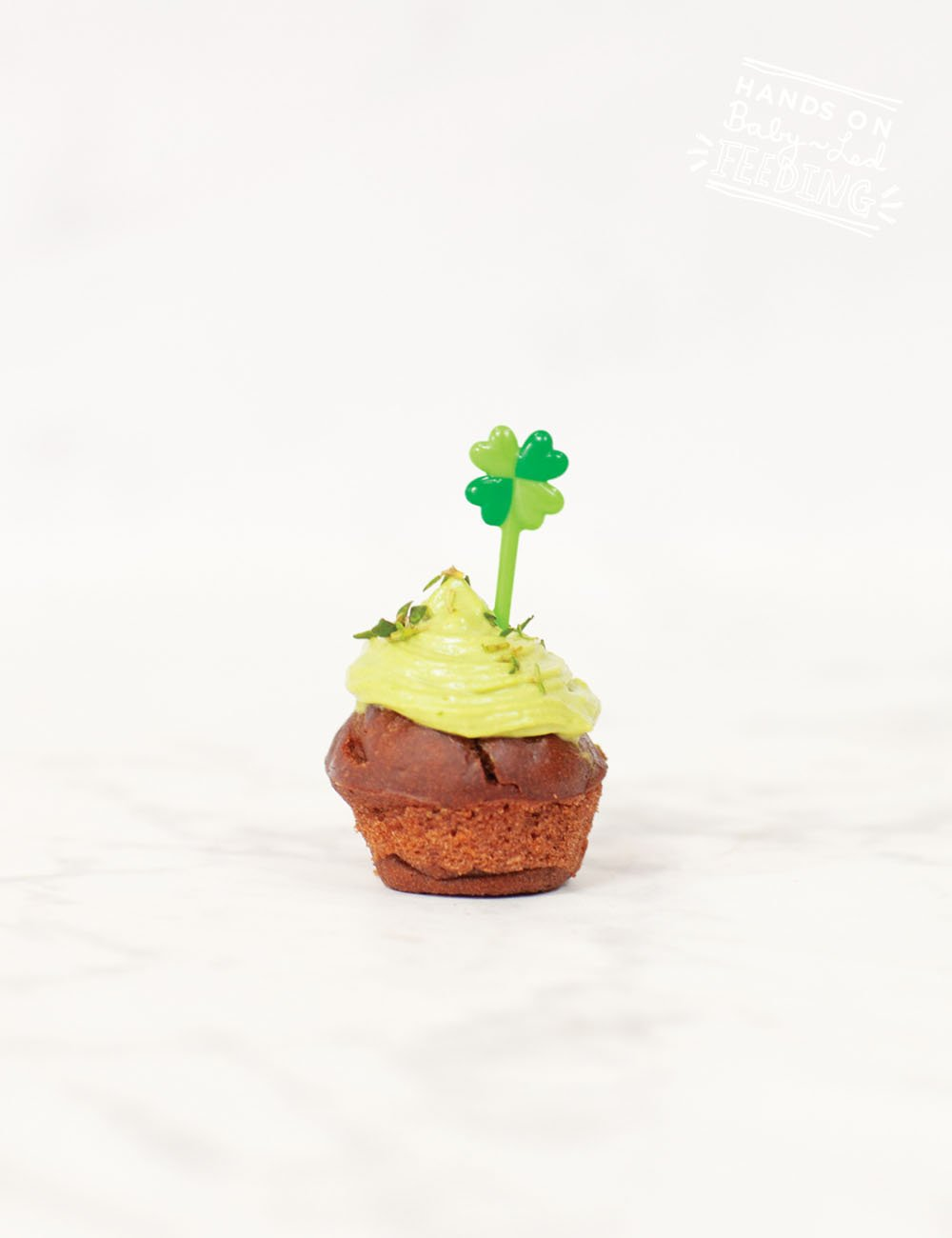 Chocolate Muffins with Green Frosting Recipe Images4