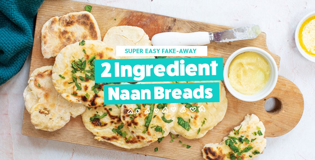 Baby Led Feeding 2 Ingredient Naan Breads Home Banner