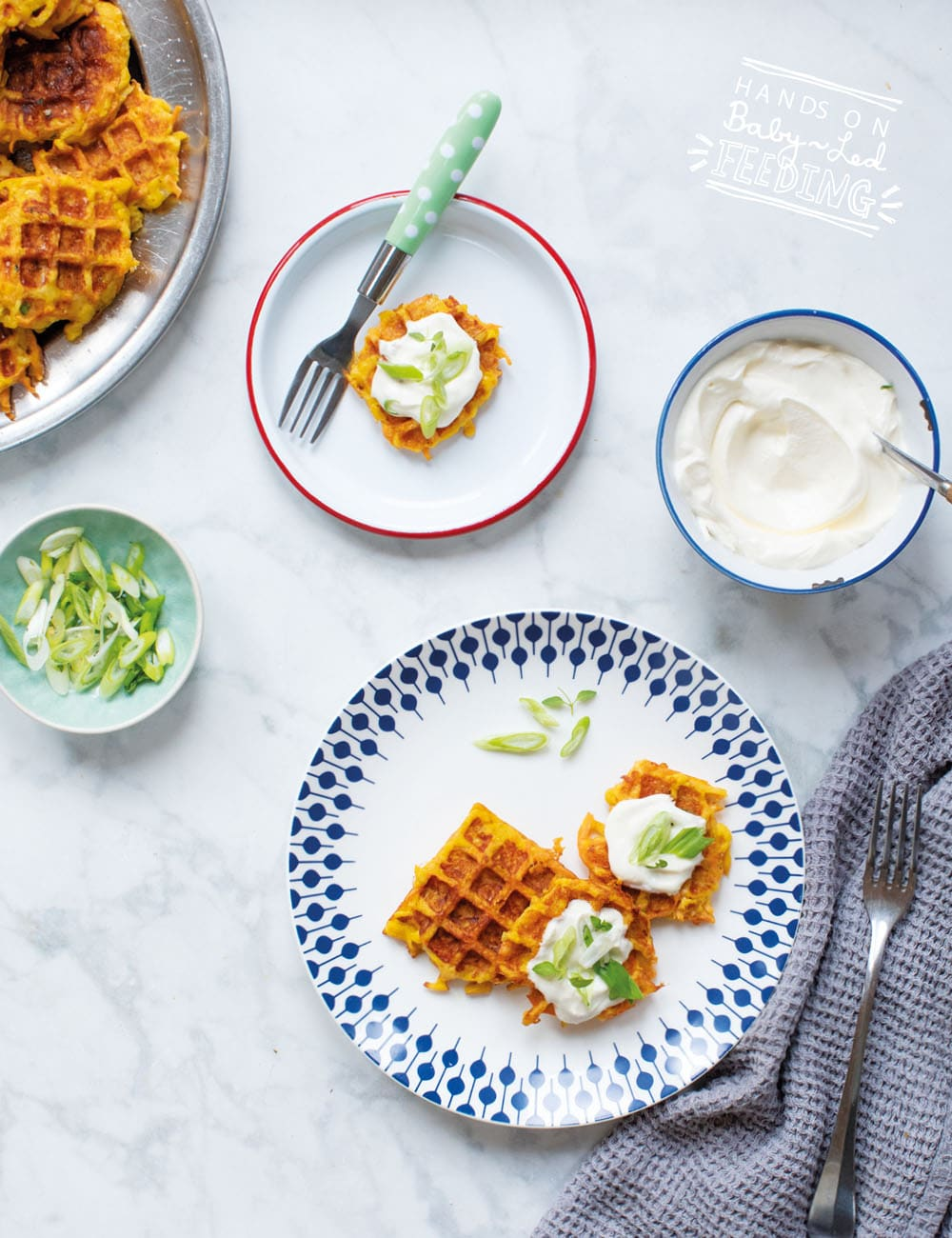 Baby Led Weaning Carrot and Cheese Waffles Recipe Images4