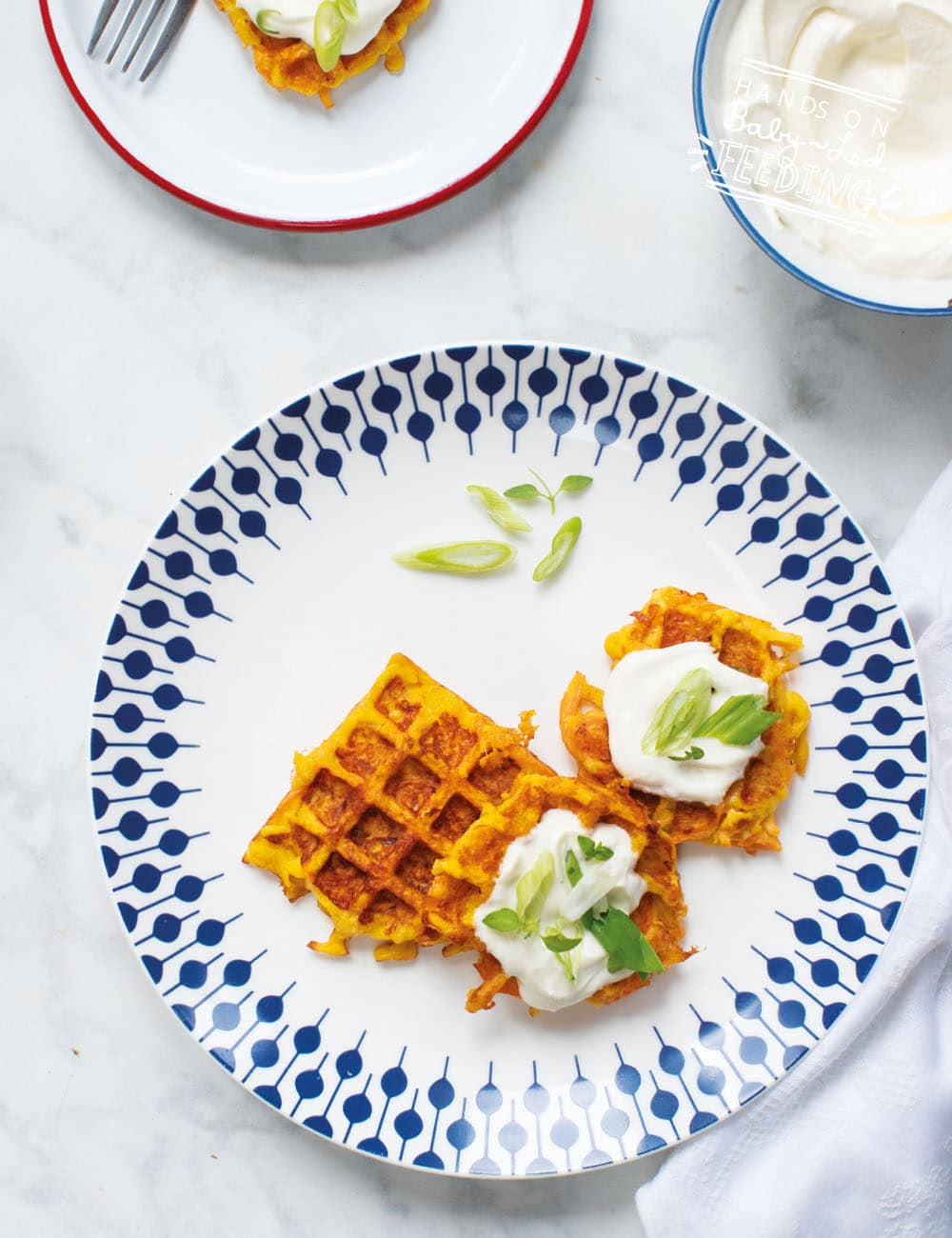 Baby Led weaning Carrot and Cheese Waffles Recipe Images5