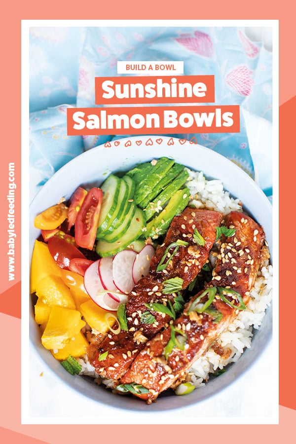 Easy and healthy sticky baked salmon for baby led weaning and families! This yummy summer dinner recipe is safe for baby led weaning 6 months and older. #salmonrecipe #bakedsalmon #salmonrecipe #healthysalmonrecipe #fishrecipe #babyledweaningfish