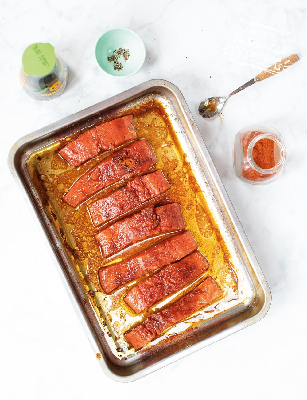 This one of the best salmon recipe I have ever made and a great salmon recipe for smaller babies too! SUPER nutritious, easy to make & filled with summer! Baked Samon