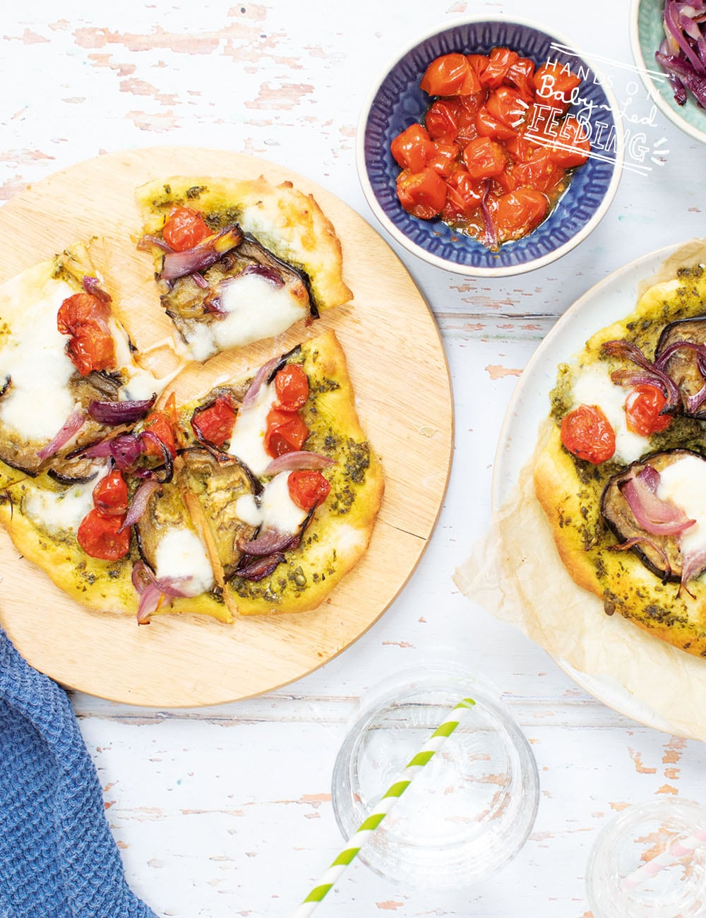 Baby Led Feeding Super Easy Pizzas with Pesto and Roasted Veggies_Recipe2