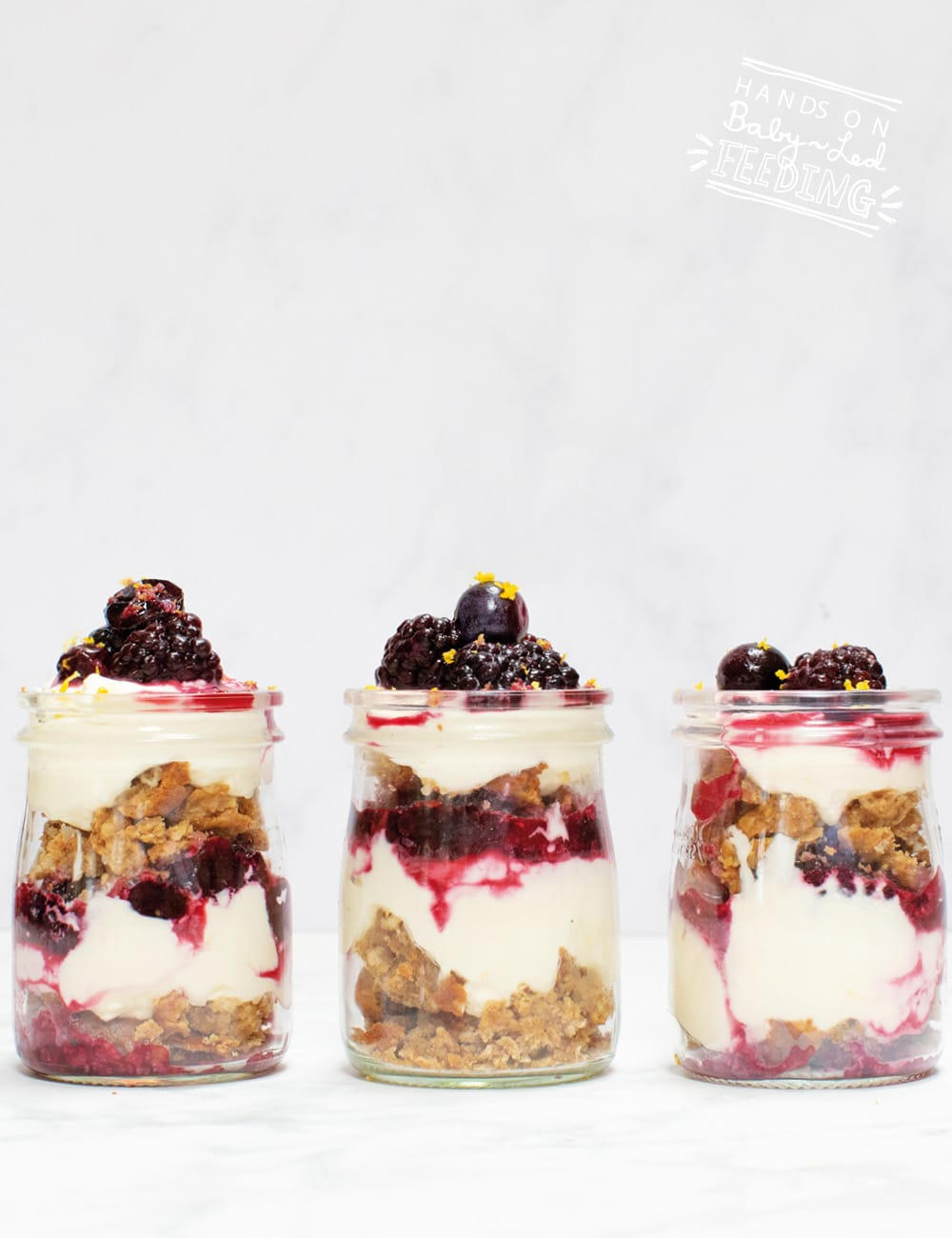 Blackberry and Blueberry Cheesecake Jar Recipe Images5